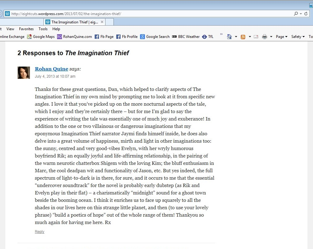 Dan Holloway's interview at 'eight cuts', about 'The Imagination Thief' by Rohan Quine - 23