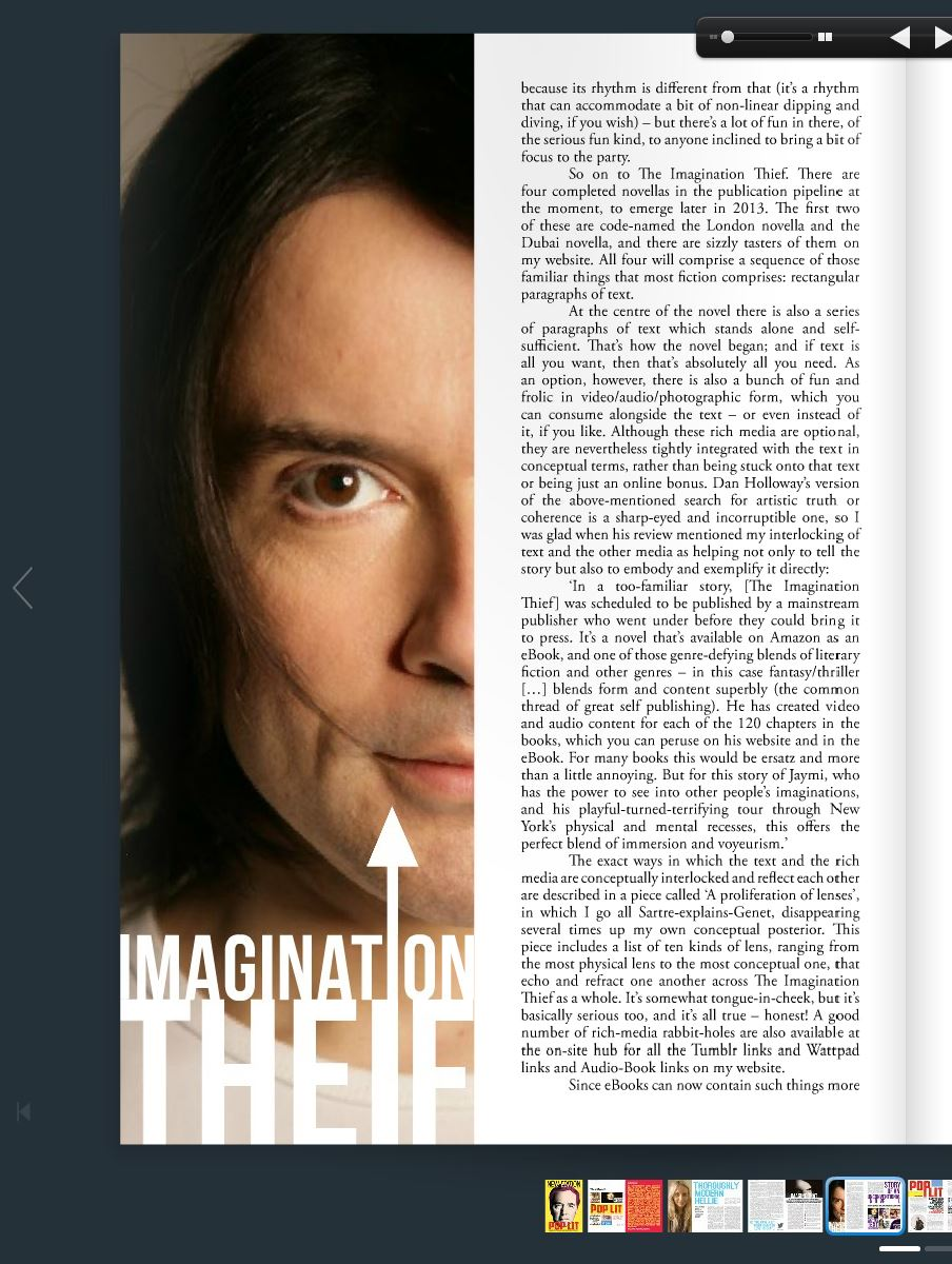 Article about 'The Imagination Thief' by Rohan Quine, in Sep 2013 'New Edition' magazine - 3