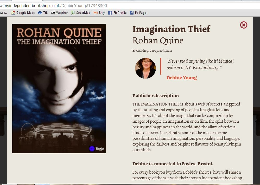 'The Imagination Thief' by Rohan Quine, at Debbie Young's Independent Bookshop