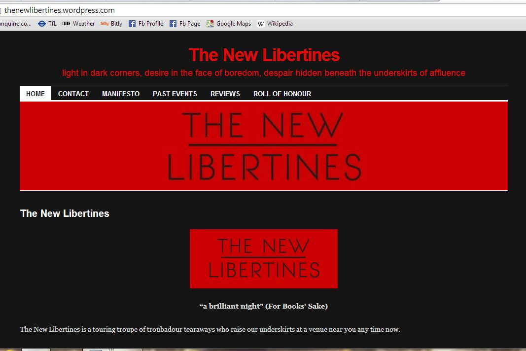 Dan Holloway's 01-08-14 New Libertines show