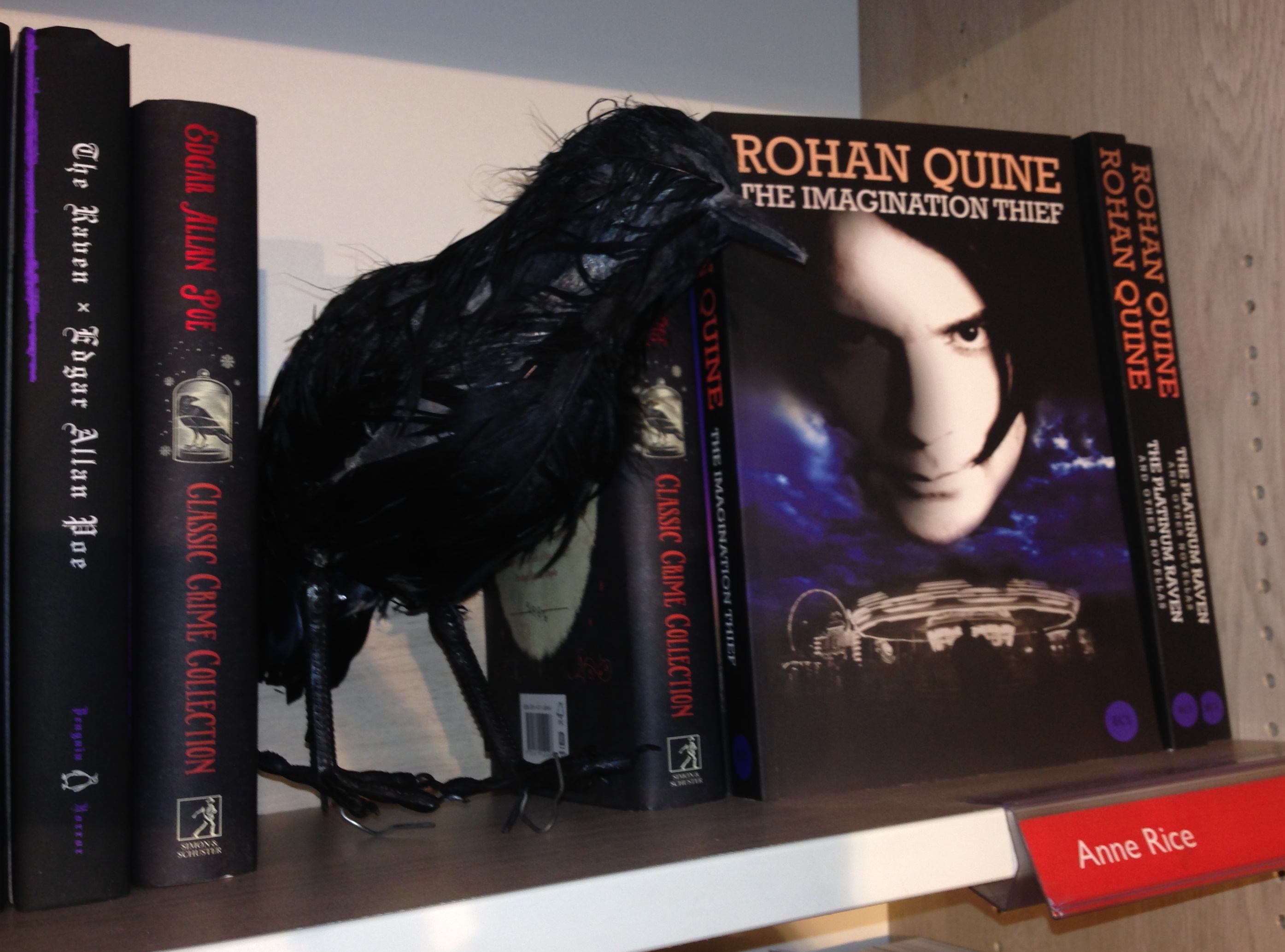 "Poe's raven and Quine's ""The Imagination Thief"" in Foyles"