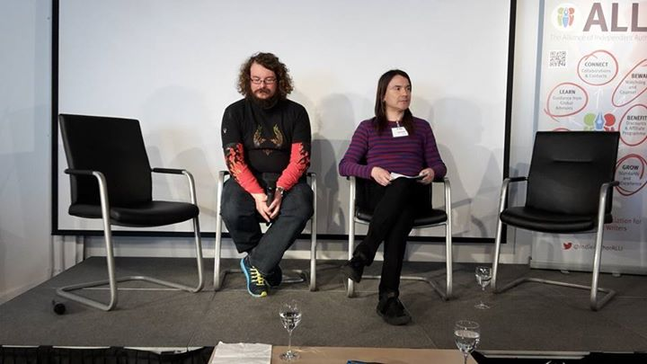 Dan Holloway & Rohan Quine, Foyles, 17 April 2015 (photo by Kathleen Jones)
