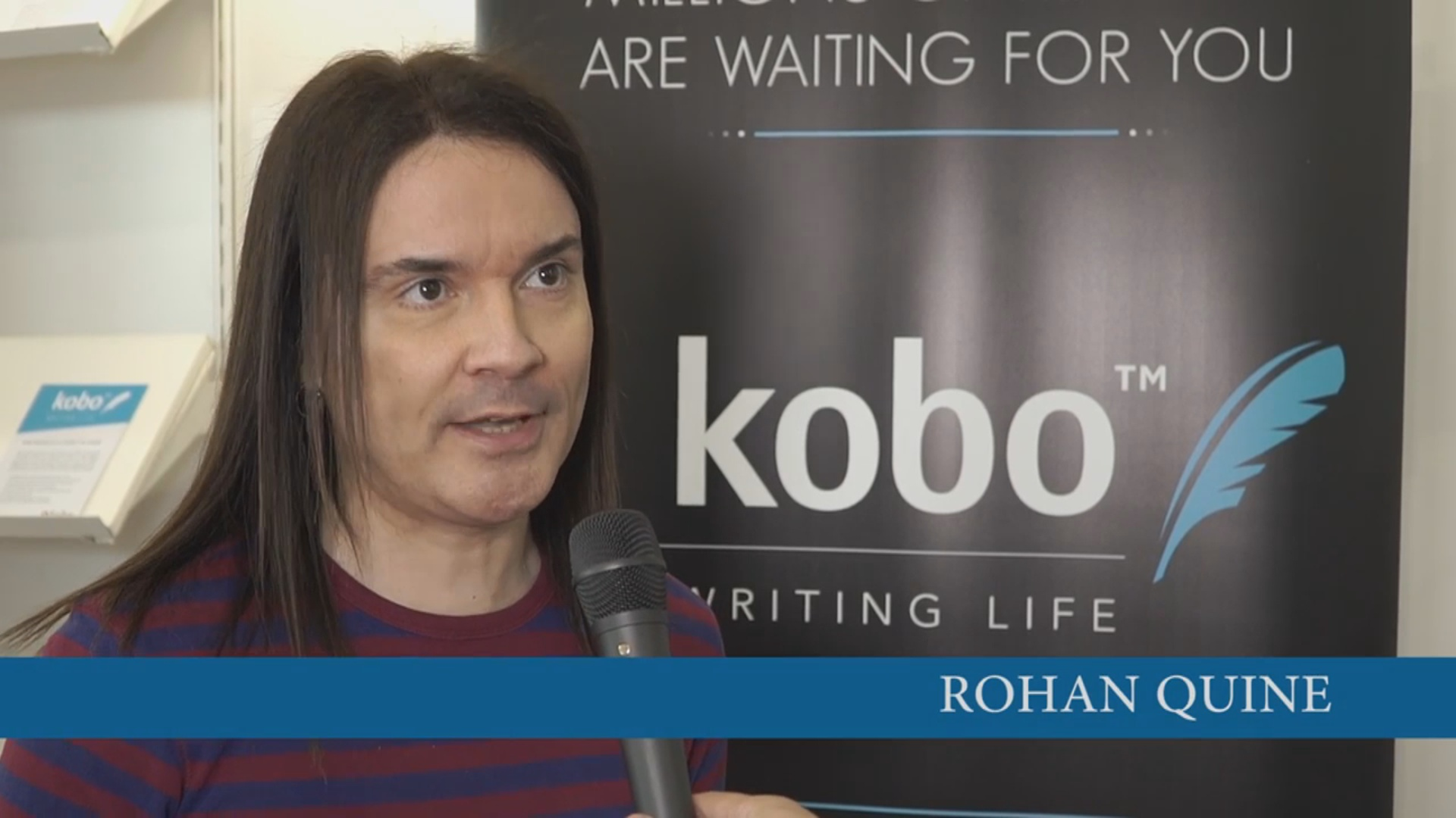 Rohan Quine in Kobo's London Book Fair 2016 interview 1