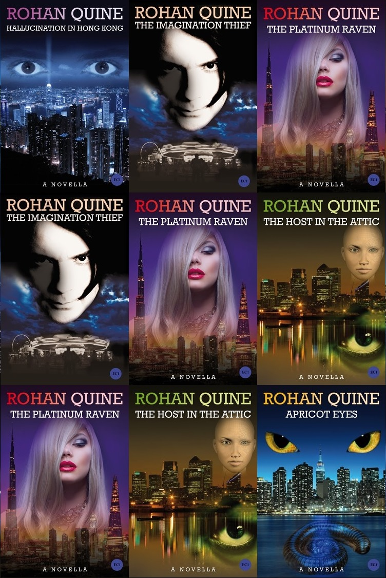 Rohan Quine - book covers - literary fiction with a touch of magical realism and a dusting of horror