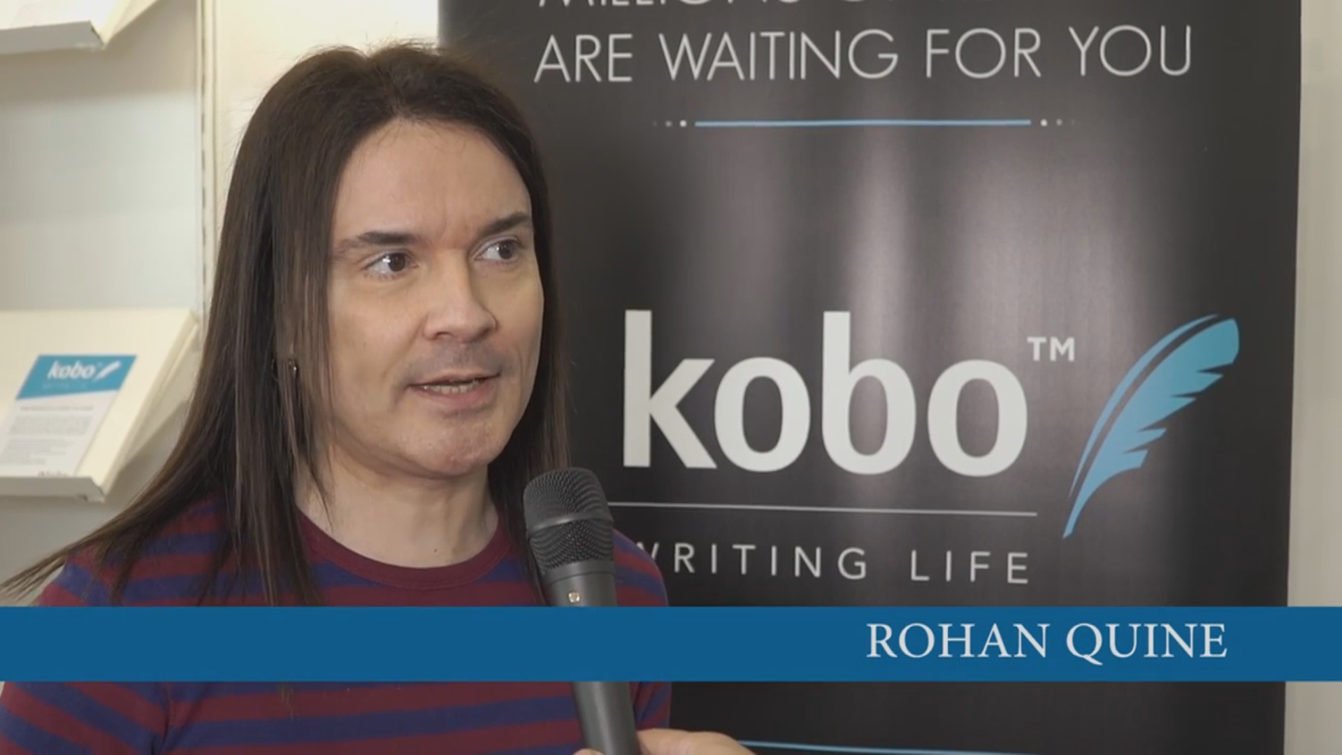 Rohan Quine in Kobo's London Book Fair 2016 interview 2
