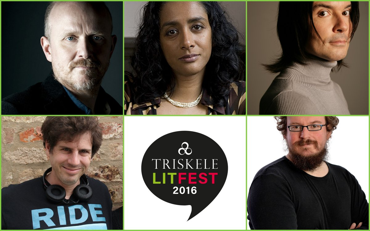 Rohan Quine, Dan Holloway, Catriona Troth, Sunny Singh, Sam Jordison and Alex Pheby in Triskele LitFest 2016's 'Preserving the Unicorn' panel on LitFic