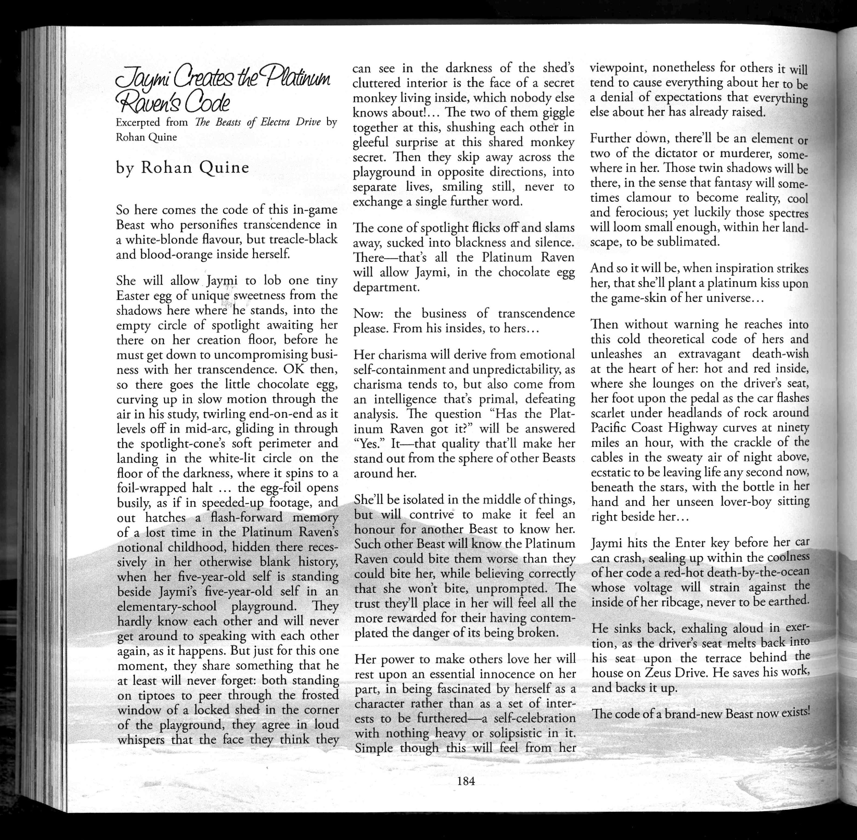 Rohan Quine in 'Vine Leaves Literary Journal' (Nov 2017) - 4