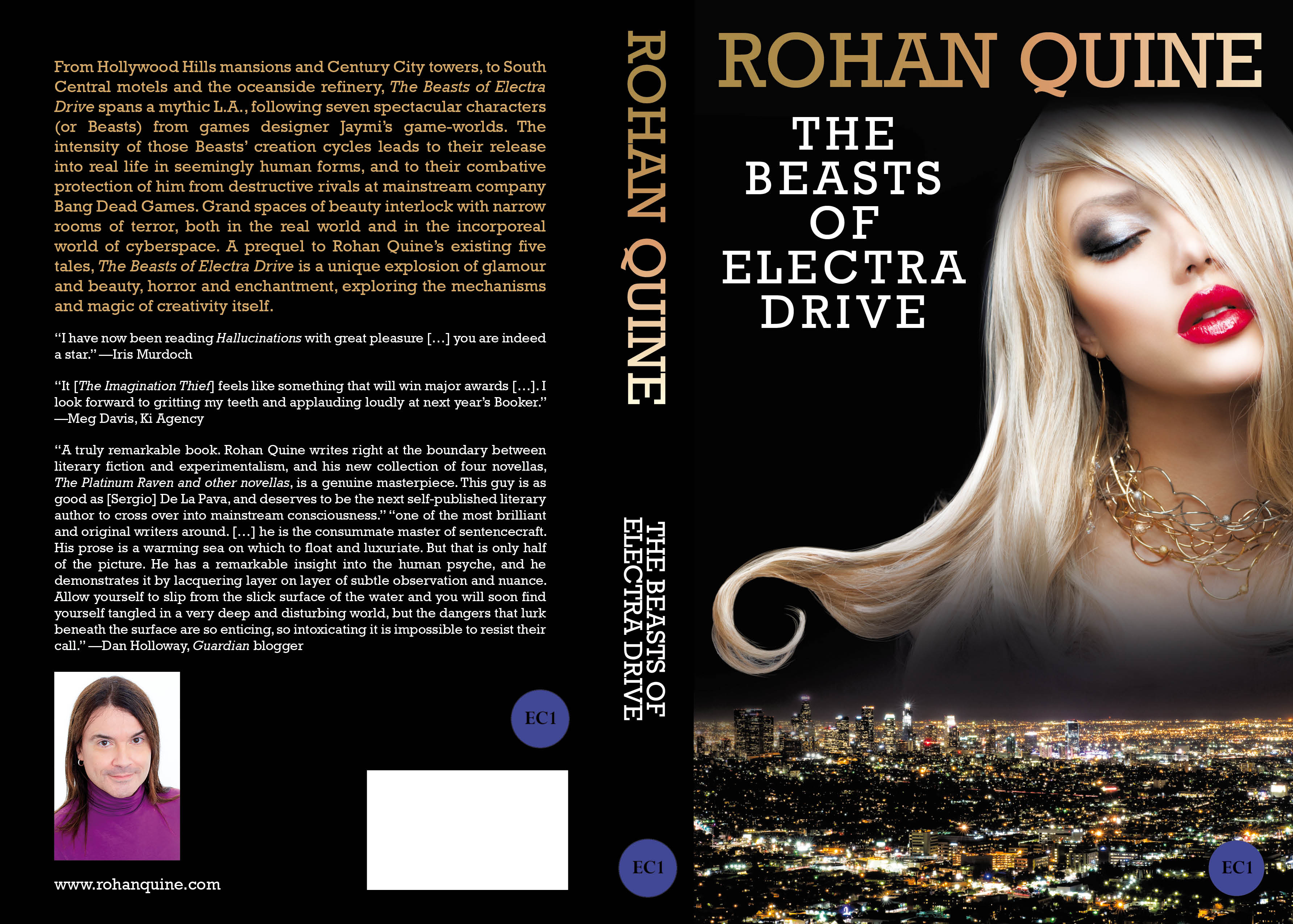 THE BEASTS OF ELECTRA DRIVE (novel) by Rohan Quine - paperback full cover - literary fiction with a touch of magical realsim and a dusting of horror (literary fiction, magical realism, horror)