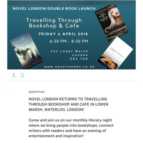 Bookshop launch of Dan Holloway's 'Kill Land' and Rohan Quine's 'The Beasts of Electra Drive'