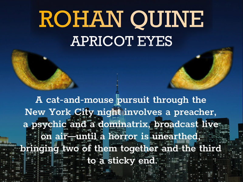 'Apricot Eyes' by Rohan Quine - banner for mobile