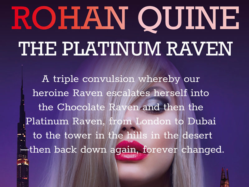 'The Platinum Raven' by Rohan Quine - banner for mobile
