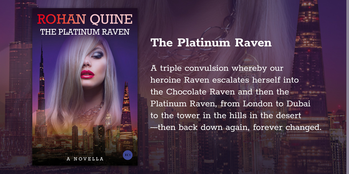 'The Platinum Raven' by Rohan Quine - banner