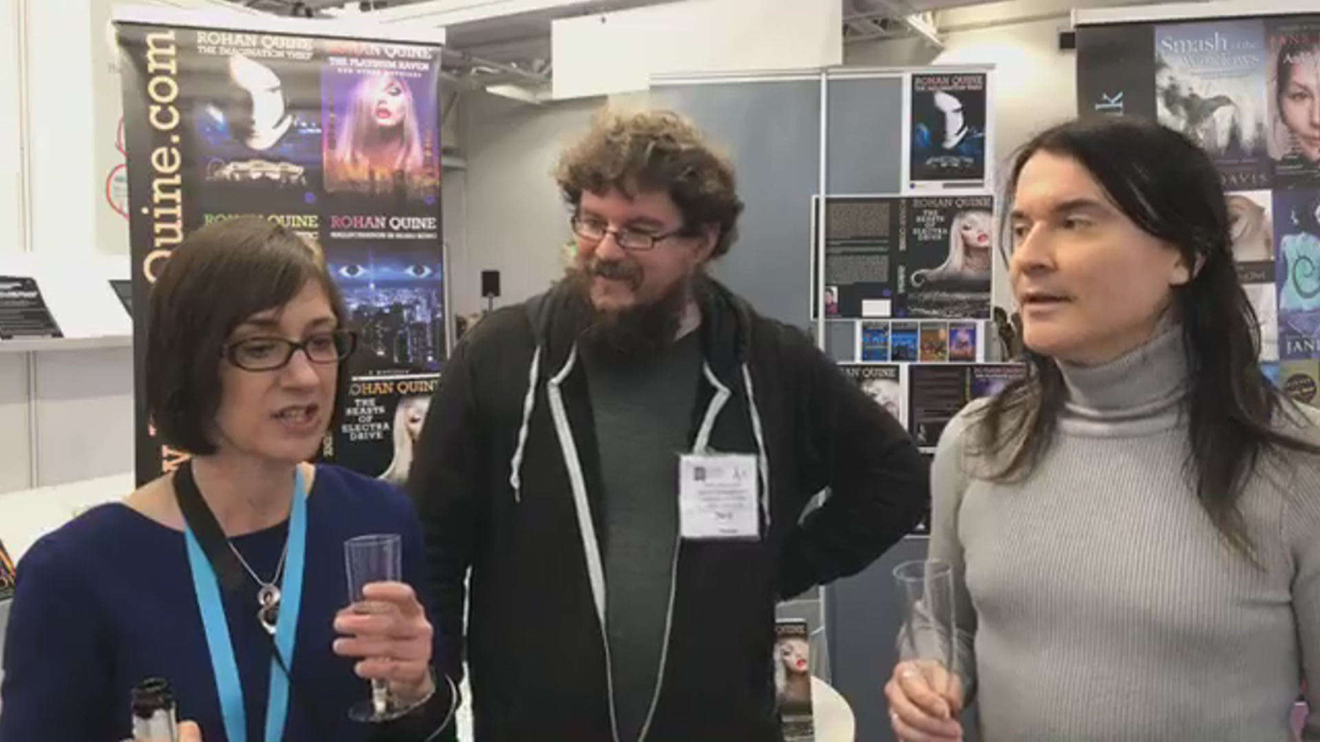 LBF18 launch of Rohan Quine's 'The Beasts of Electra Drive', Dan Holloway's 'Kill Land' & Jane Davis's 'Smash all the Windows' - 1