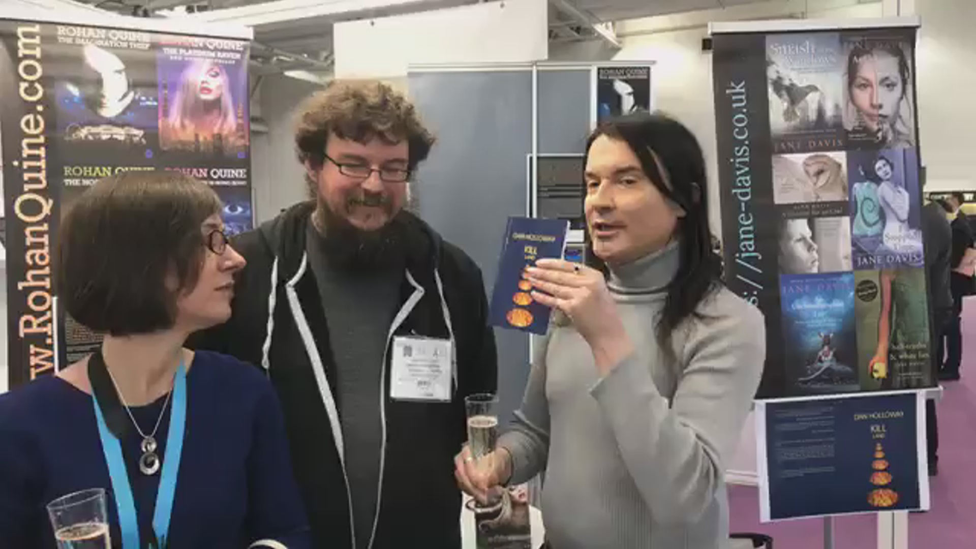 LBF18 launch of Rohan Quine's 'The Beasts of Electra Drive', Dan Holloway's 'Kill Land' & Jane Davis's 'Smash all the Windows' - 3