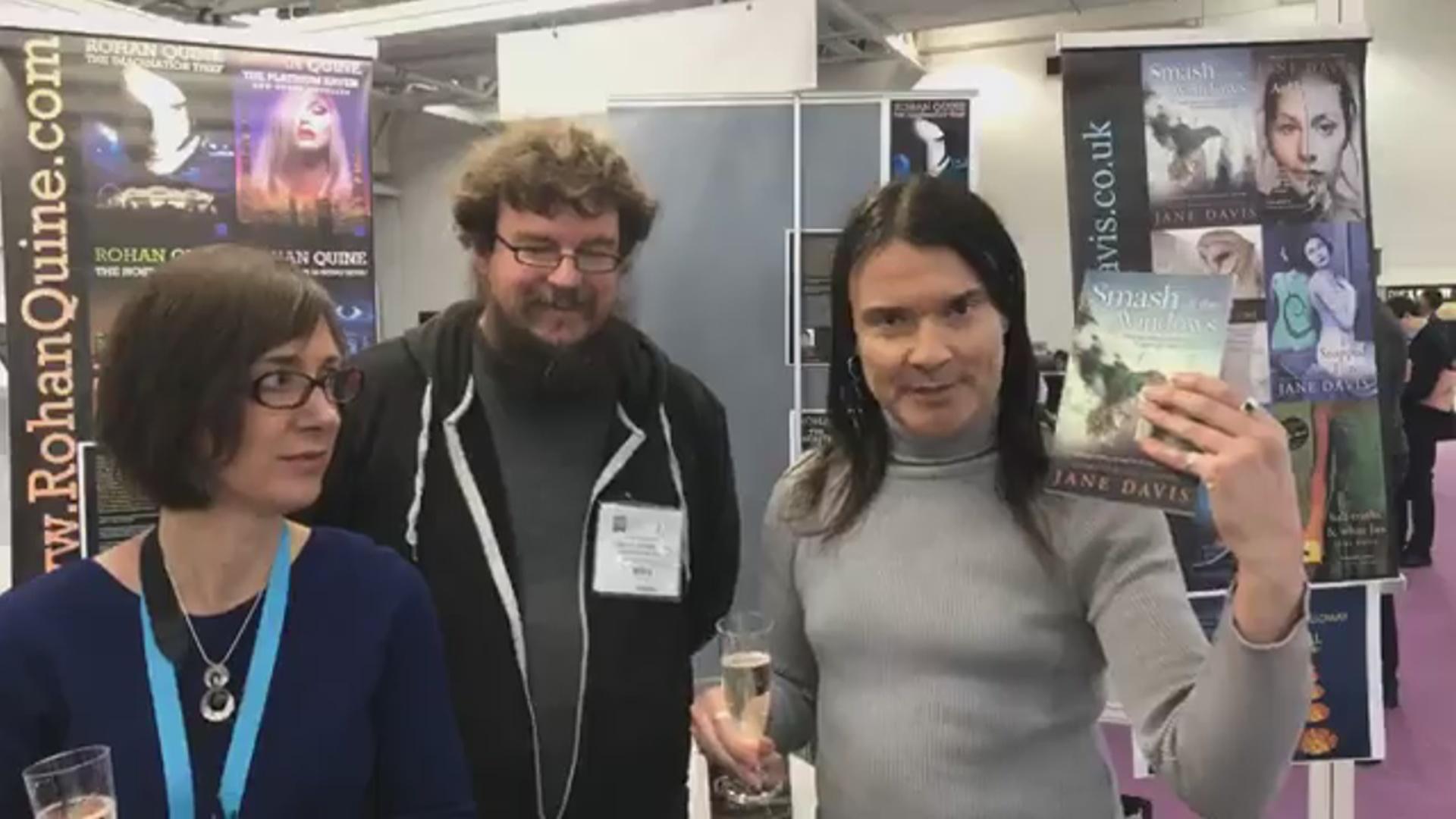 LBF18 launch of Rohan Quine's 'The Beasts of Electra Drive', Dan Holloway's 'Kill Land' & Jane Davis's 'Smash all the Windows' - 4