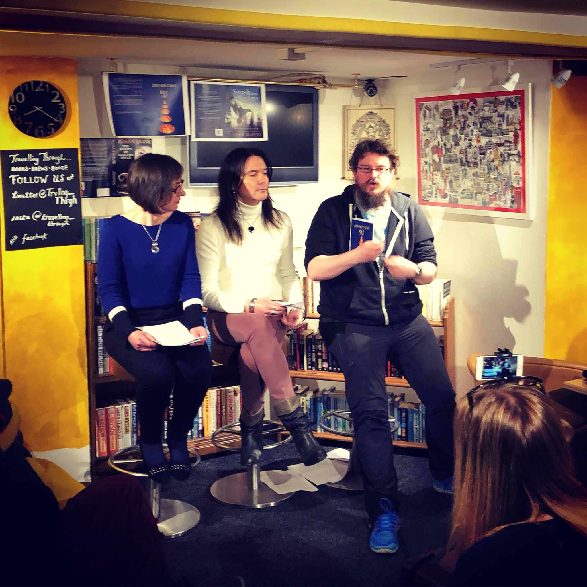 Launch of Rohan Quine's 'The Beasts of Electra Drive' & Dan Holloway's 'Kill Land' - 1 (photo by Venetia Welby)