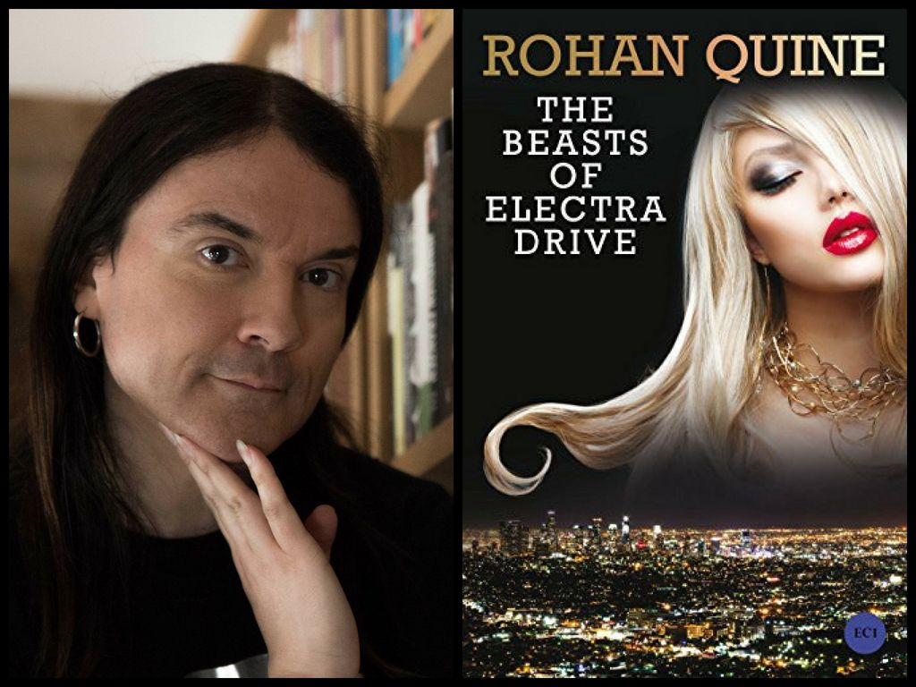Rohan Quine and 'The Beasts of Electra Drive' (photo by Safeena Chaudhry)