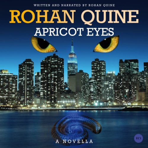 APRICOT EYES (novella) by Rohan Quine - audiobook cover (literary fiction, magical realism, horror)
