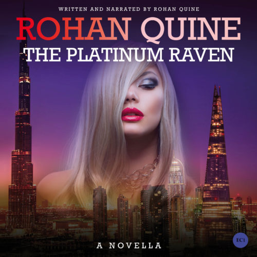 THE PLATINUM RAVEN (novella) by Rohan Quine - audiobook cover (literary fiction, magical realism, horror)