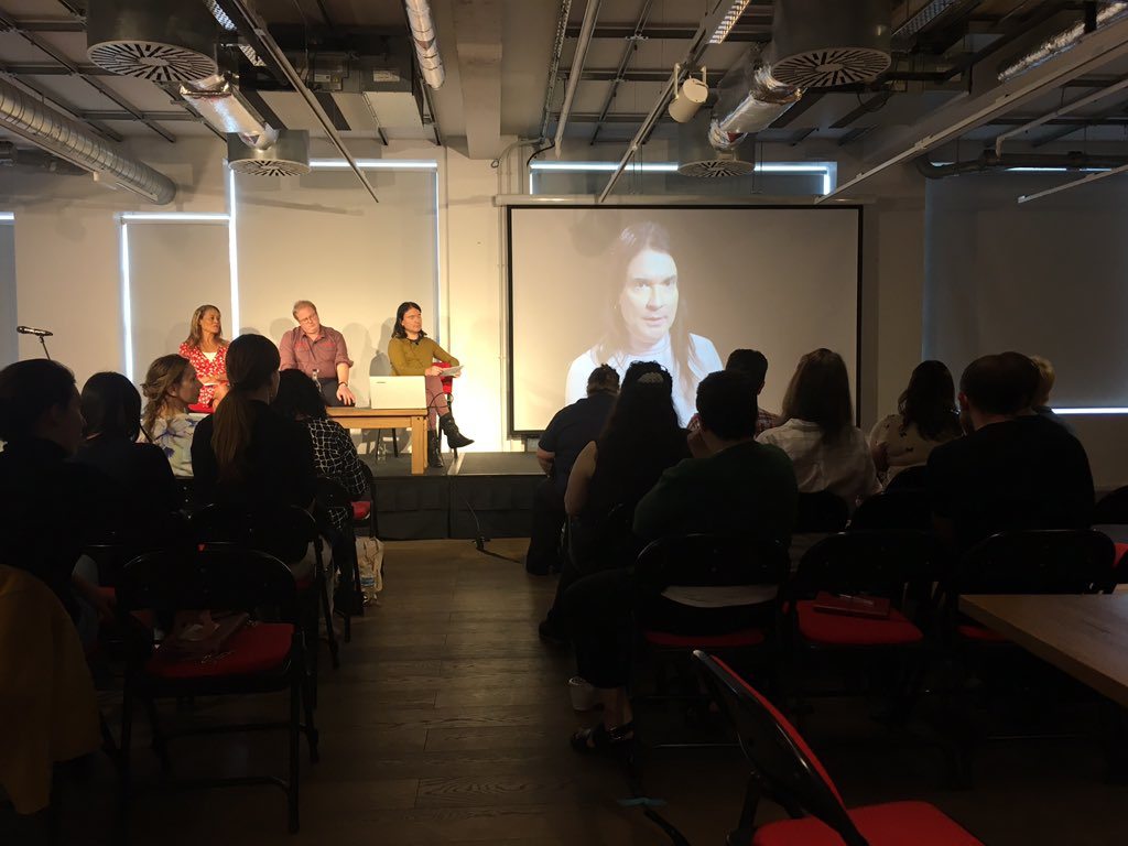 Rohan Quine's panel, Novel London Literary Festival 2019 (photo by Safeena Chaudhry)