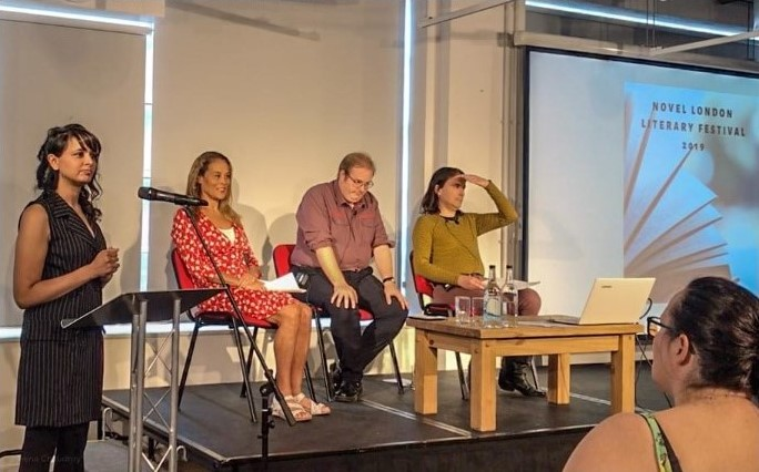Safeena Chaudhry, and Rohan Quine's panel, Novel London Literary Festival 2019