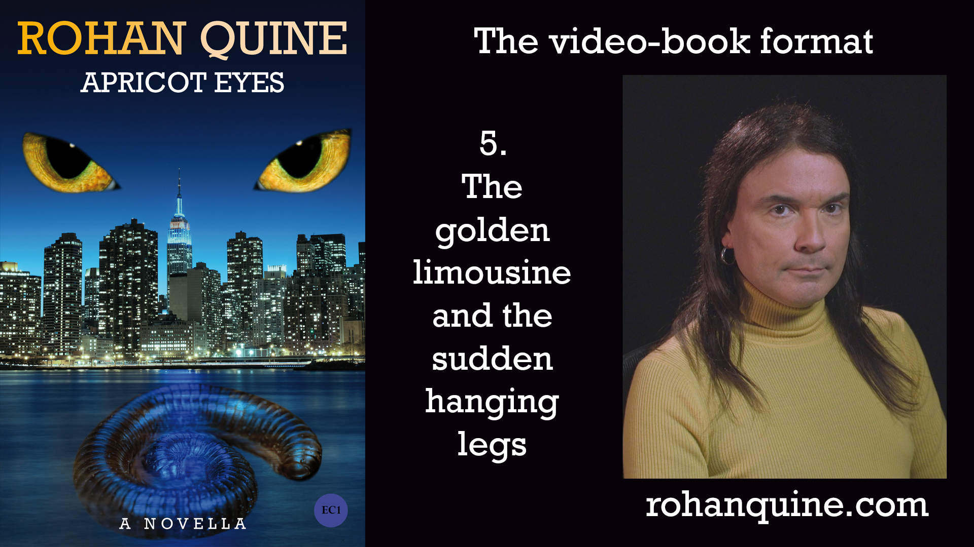 APRICOT EYES by Rohan Quine - video-book format - chapter 5
