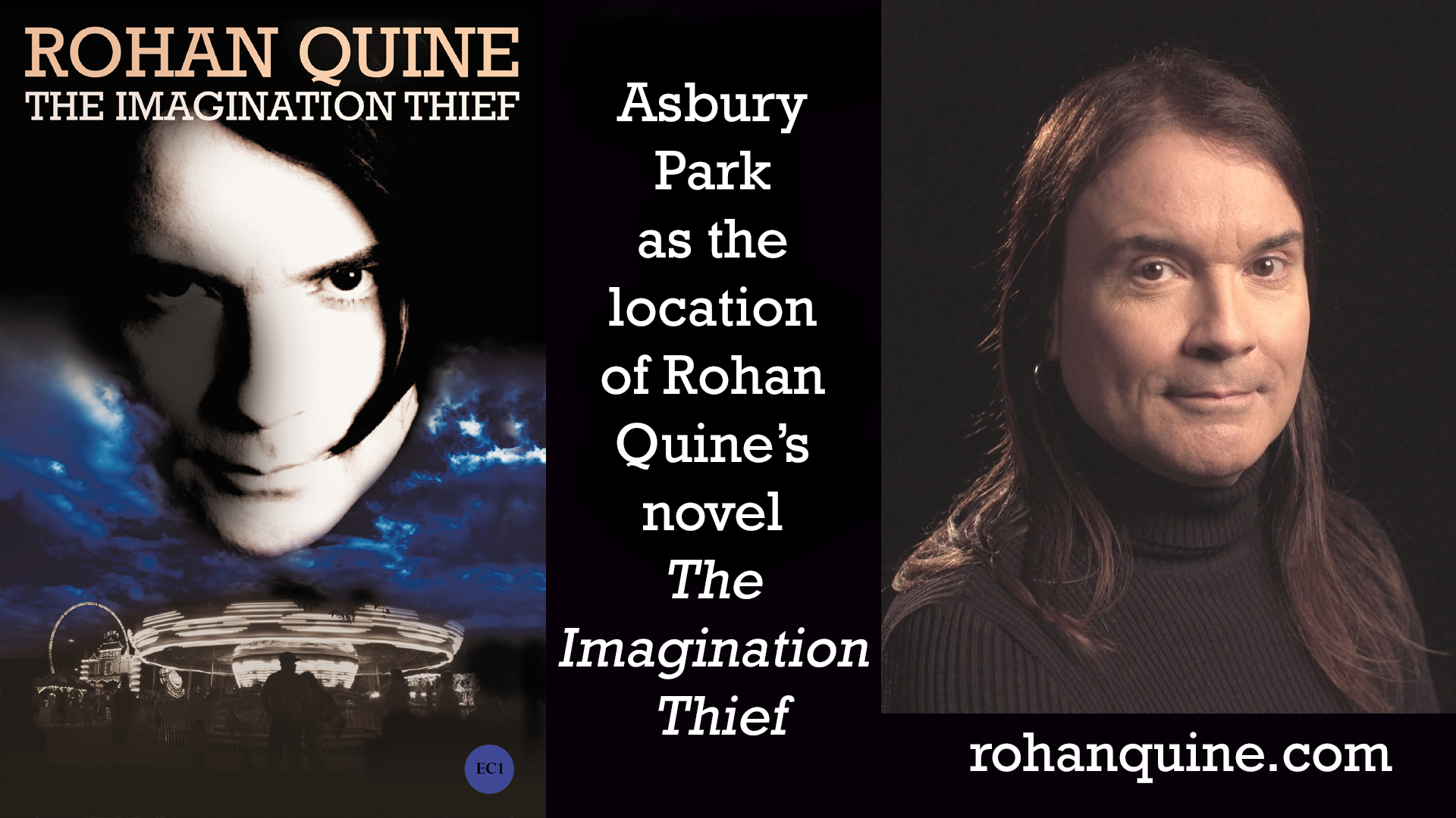 THE IMAGINATION THIEF (novel) by Rohan Quine - Asbury Park location