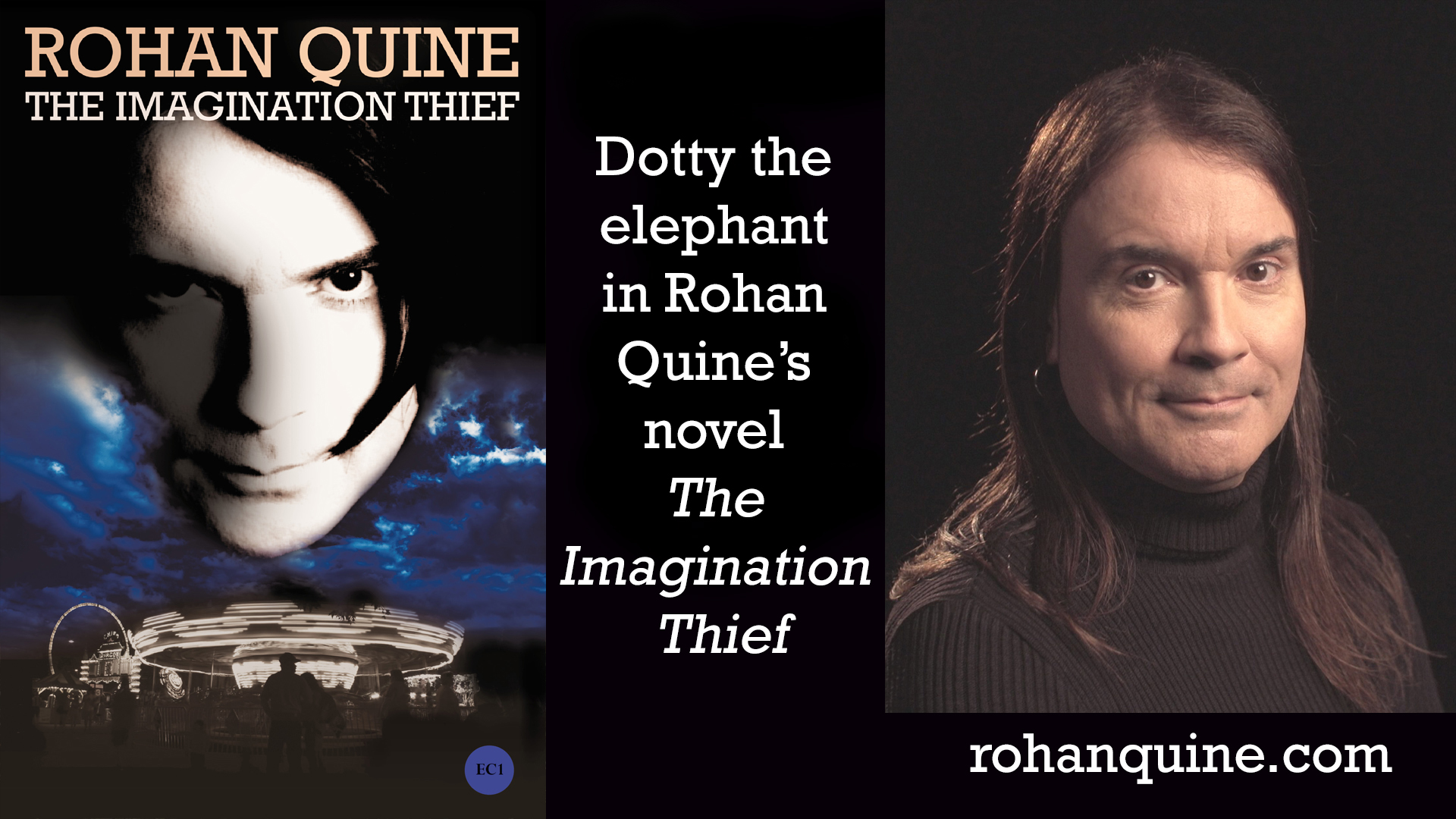 THE IMAGINATION THIEF (novel) by Rohan Quine - Dotty the elephant